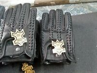 New Men's Genuine Cowhide Leather Driving Gloves