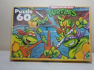 Teenage Mutant Hero Turltes. Vintage 1990 Puzzle. Complete. 60pcs.