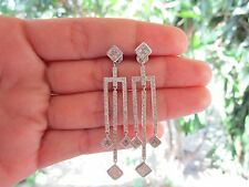 2.34 Carat Diamond White Gold Dangling Earrings 18K sepvergara