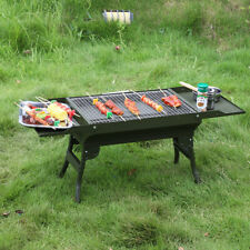 Outdoor foldable portable barbecue grill