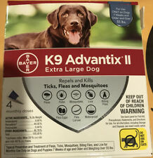 Bayer K9 Advantix II Flea and Tick Control for Dogs over 55 lbs 4 Monthly Doses