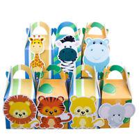 7x Animal Safari Jungle Lolly Loot Bag Box Party Supplies Bunting Cake Zoo Game