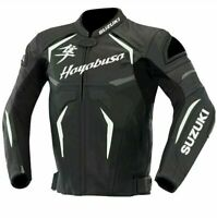Suzuki Hayabusa Motorbike/Motorcycle Racing Leather Jacket All Size Available