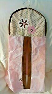 Tiddliwinks Baby Crib Nursery Diaper Stacker Pink Flowers Brown Ladybugs