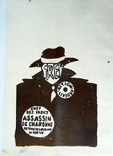 Affiche originale Mai 68 entoilée manifestation étudiant Paris P1519 XL