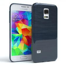 Funda protectora para Samsung Galaxy Mini s5 brushed cover móvil, funda azul oscuro