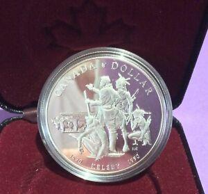 1990 (1690) Canada $1 Henry Kelsey Prairies Exploration 300th Anniv Proof -KM170