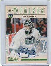 2012-13 Classics Autograph Sean Burke Hartford Whalers #130