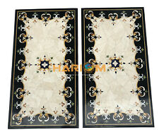 3'x2' Pair of two Italian Marble Dining Table Top Random Inlay Home Decors B108