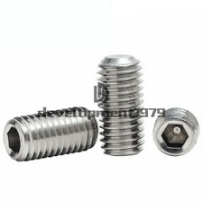 200x Allen Head Socket Hex Set Grub Screw Assortment Cup Point Stainless Steel