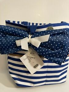 Mudpie Bundle Of Joy Product #8613222N Large Diaper Bag boy Navy stripes NWT