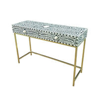Handmade Bone Inlay Console Table
