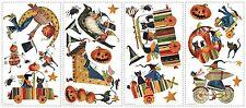 20+ Halloween Witch Pumpkin Cat Peel Stick Wall Applique Reusable Sticker Decal
