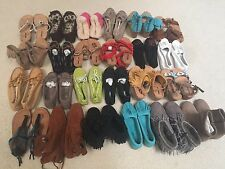 NEW Lot 10 Pairs MINNETONKA  Moccasins Sandals, Wedges, Shoes, Slippers Size 5