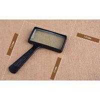 Handheld Rectangular 10X Magnifier Magnifying Glass Loupe For Reading Jewelry I2