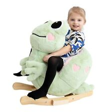 Frog Little Rocker with music and zipper plush rocking animal by Gerardo's Toys