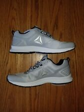 New Mens Reebok Cloud Gray White Shoes Athletic Size 10