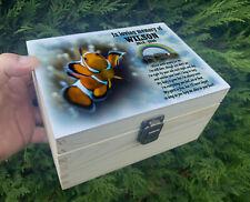 Small wooden pet urn, Wooden casket for ashes, Memorial keepsake box.
