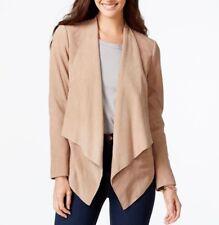 46a171cfc7908 Michael Kors Beige Open Drape Front Suede Leather Jacket Plus 2xl XXL Womens