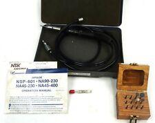 Nakanishi NSP-601 Impulse Air Pencil Grinder 60,000 min-1 with Carbide Burs Set