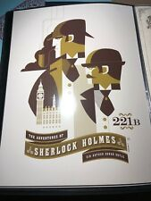 Sherlock Holmes Required Reading Tom Whalen #2 Poster Print Signed Numbered 2011