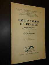 PSYCHANALYSE ET RÉALITÉ - Denise Braunschweig - 1971 -