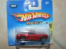 HOTWHEELS 1:64 2005 N°006 REALISTIX 6/20 FORD MUSTANG GT 2005