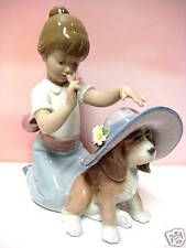 ELEGANT TOUCH GIRL WITH DOG FIGURINE BY LLADRO  #6862