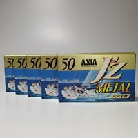 FUJI AXIA lot (2/ 5/ 10/ 25) JZ METAL 50 BLANK CASSETTE TAPE (SEALED) AUDIO TAPE