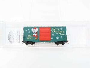 N Scale Micro-Trains MTL 10100070 Christmas Car 2008 40' Hy-Cube Box Car