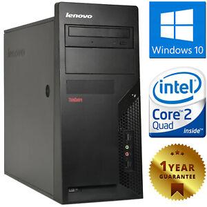 PC COMPUTER DESKTOP RICONDIZIONATO LENOVO QUAD CORE RAM 4GB HDD 250GB WINDOWS 10