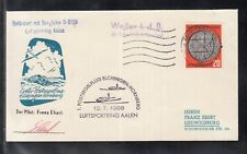"C 02 ) Germany Spezial Cover 1958 - Post Sail Cover  with ""Bergfalke D-8159"""