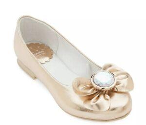 Disney Store Princess Fancy Dress Gold Shoes  Costume Girl Shoe Size 8 NWT