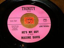 MAXINE DAVIS - HE'S MY GUY - I FOUND A LOVE / LISTEN - GIRL SOUL POPCORN