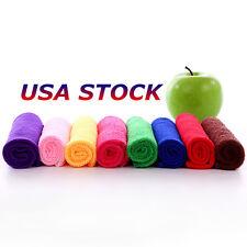 USA 5pcs Practical Durable Soft Fiber Cotton Face/Hand Cloth Towels Washcloths