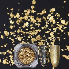 Born Pretty Nail Sequins Glitter Paillette Powder Dust Flakes Gold Irregular DIY