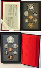 CANADA Serie completa annuale 7 monete anno 1988 Fondo Specchio con argento