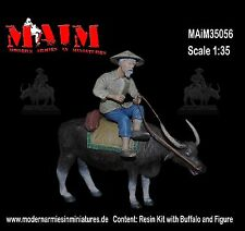 Vietnamese Farmer with Water Buffalo / 1/35 Scale Vietnam military diorama