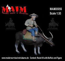 Vietnamese Farmer with Water Buffalo / 1/35 Scale Vietnam military diorama