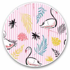 2 x Vinyl Stickers 25cm - Elegant Pink Flamingos Tropical Cool Gift #13189