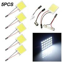 5PCS White 48 SMD COB LED T10 4W 12V Car Interior Panel Light Dome Lam