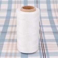 Hilo de Bobina para coser cuero sintético Color Blanco 260m 0.8mm Waxed Thread