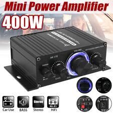 HiFi Verstärker Auto 12V 400W Aluminium Audio Stereo Mini Power Car Amplifier