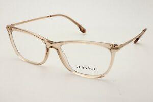 Versace VE 3274B 5215 Transparent Brown Women's Eyeglasses 54-- See Detail
