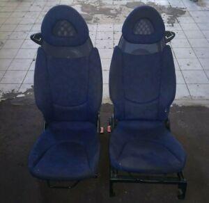Smart Fortwo 450 Fahrersitz Beifahrersitz Sitz links + rechts blau Stoff
