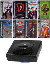## SEGA SATURN Konsole + 8 Spiele +Pad + Strom- & TV-Kabel + neue Bat. ##