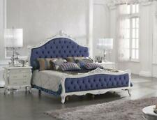 Luxus Klasse Schlafzimmer Set Barock Rokoko Bett Doppelbett Betten 2x Nachttisch