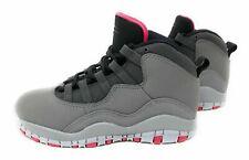New Jordan Little Kids 10 Retro Basketball Gray Black Red 487212 006 Size 3Y