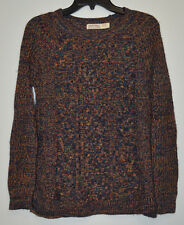 Faded Glory Women's Multi-Color Thin Knit Long Sleeve Sweater Size: M (8-10)