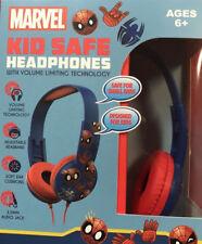 Marvel Spider-Man Headphones Kid Safe Adjustable Over-the-Ear Volume Limiting w